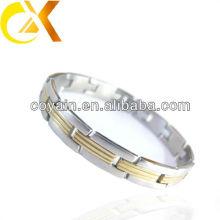 Aço inoxidável de alta qualidade pulseira casual para homens