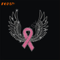 Wrong Girl Pink Ribbon Hot Fix Rhinestone Motivo