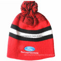 Customized Produce Cheap Sports Skate Winter Warm Customized Logo Embroidered Striped Jacquard Wool Beanie Cap