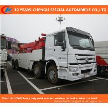 Sinotruk HOWO Heavy Duty Road Wrecker/ Wireless Control Wrecker Tow Truck