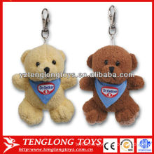 Cheap!!Bear shaped Cute plush toy keychain 2 colors custom plush keychain