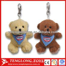 Дешево! Медведь формы Симпатичные плюшевые игрушки брелок 2 цвета пользовательских плюшевых брелок