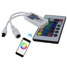 magic home New Wifi LED RGB / RGBW Controler DC12V MIni Wifi + IR 24 Key Remote Controller for RGB / RGBW LED Strip