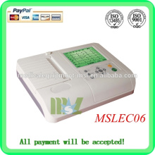 Six channel EGC machine Automatic analysis of digital ecg machine(MSLEC06)