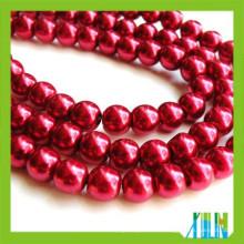 Perlas sueltas redondas checas de cristal de la perla de calidad superior a granel