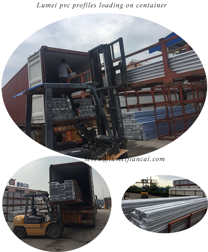 loading upvc profiles