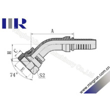 45-Grad-GB-metrische weibliche gesenkgeschmiedete Schlaucharmaturen (20741)