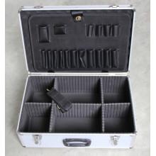 Caja de herramientas de aluminio de aleación de aluminio multiusos (con cerradura)