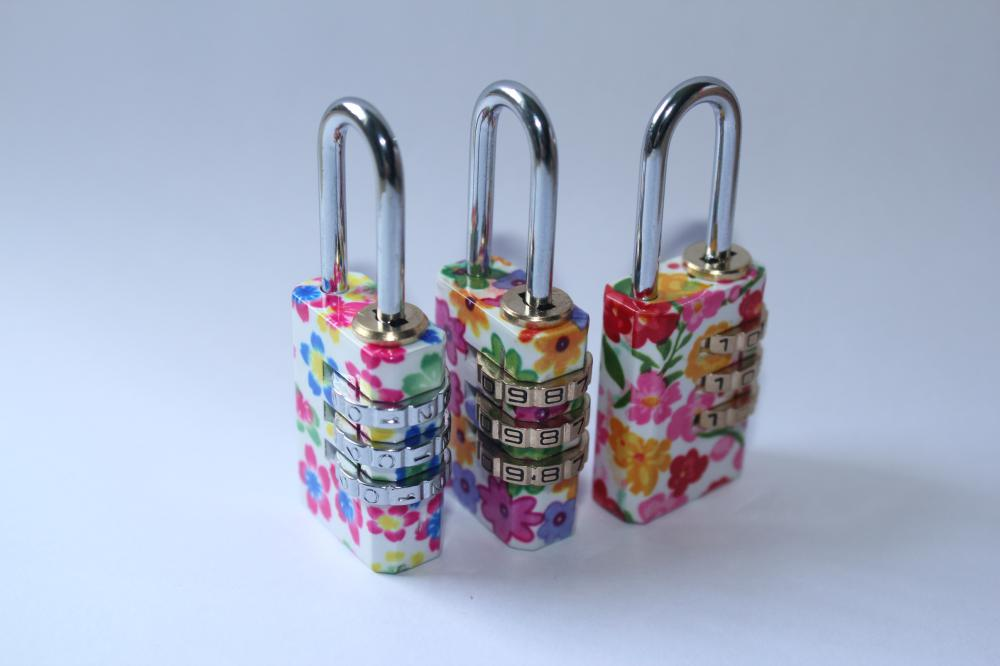 Colorful Combination Lock 3 Digital Padlock