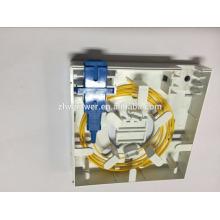 Волоконно-оптическая клеммная коробка, sc 2 двухпортовая оптоволоконная коробка с оптическим кабелем типа 86 * 86 типа со сканером адаптера / пигтейла