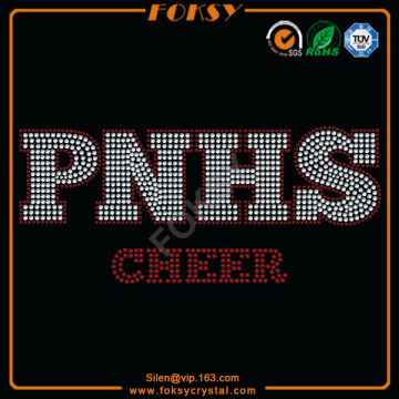 PNHS Cheer hotfix iron on rhinestone transfers
