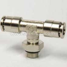 BSPP Swivel Branch Tee Adaptor Metal Push-in-Fittings