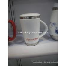 derniers produits en céramique en gros marché voyagent chopes à café, tasses personnalisées