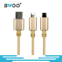 2 in 1 Fast Charging USB Data Cable for Smartphone
