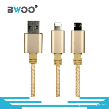 2 in 1 USB Data Cable for Mobile Phone