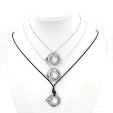 Art- und Weiseschmucksache-kundenspezifische gravierte Wort-hängende Halskette