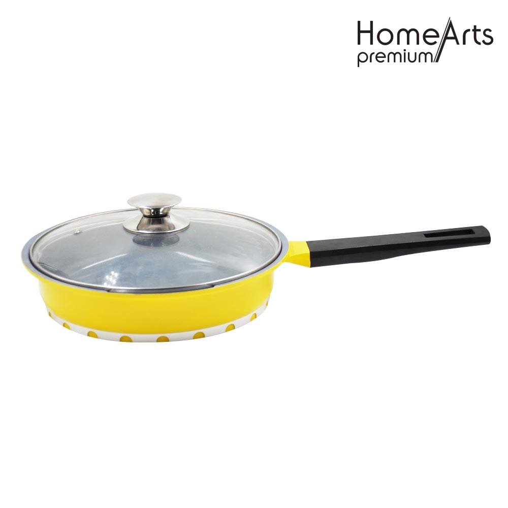 Aluminum Press Non-stick Cakepan With Glass Lid