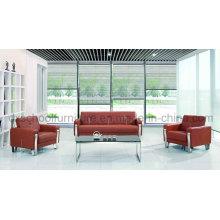 Современный кожаный диван офис диван для продажи (DX519)