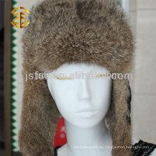 Lastest Elegante patrón genuino invierno natural ruso sombrero de piel de estilo