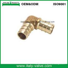 Codo de crimpado de latón sin plomo de calidad personalizada (IC1002)