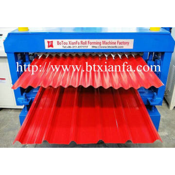 Corrugated Tile Metal Roof Panel Pembentukan Mesin