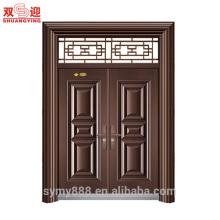Conceptions principales modernes de porte pour le cadre de porte d'acier inoxydable avec la fenêtre