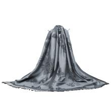 190 * 80cm Tamanho grande Mulheres Pashmina Cor cinza