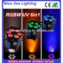 Hochzeit 6x18w rgbwa uv 6in1 drahtlose batteriebetriebene LED par kann