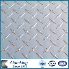 Hoja de aluminio a cuadros de diamante para el paquete