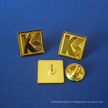 Stamp Logo Badge plaqué or avec lettre (GZHY-LP-014)