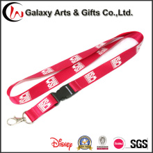 Novelty Silk Screen Printed Nylon Lanyard with Simple Metal Hook Factory Directly Sale