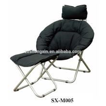Cadeiras da lua com descanso para os pés e costas e travesseiro