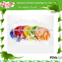 Top vendendo FDA grau facilmente transportar Silicone Pet Feeder Bowl