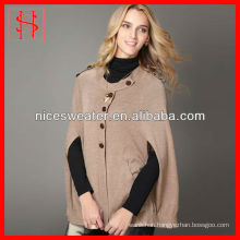 Western simple style women poncho