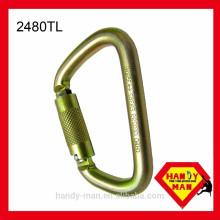 Auto Lock Gate Typ D geformte Selbstverriegelung Sicherheit 35kN Stahl Haken