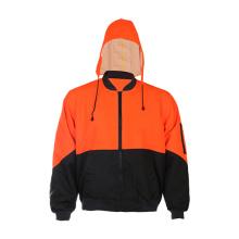 Chaqueta con capucha de seguridad reflectante Contraste Color