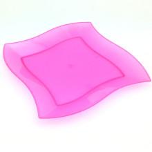 Plateau en plastique Plateau à usage unique 18cm Square-Wave Tray
