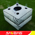 Outdoor versatile and foldable tea table bean bag in garden