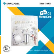 Rongpeng R8031k34b 34PCS Kits de pistolet de pulvérisation d'air