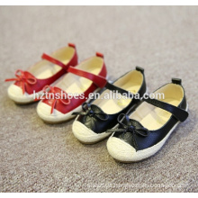 Comfortable kids flat heel casual shoes with bowtie velcro strap espadrille shoes girls