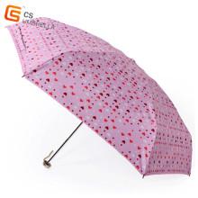 Kleine Herzen UV beständig 5 Falten Regenschirm