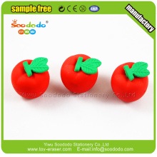 Barn Söt 3D apple formade gummi brevpapper aeraser