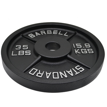 Gym Standard Weightlifting Barbell Plate Weight Cast Iron Bumper Plates