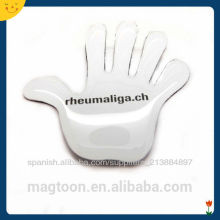 custom creative hand shape poly resin fridge magnets for promotion