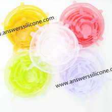 Tampas extensíveis de silicone para alimentos à prova de vazamento personalizadas
