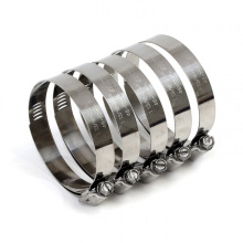304 Stainless steel worm gear hose clamps