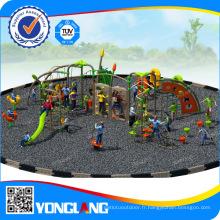 Équipement commercial de terrain de jeux en plastique