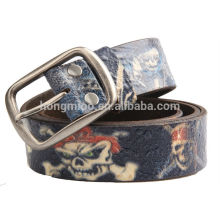 Genuine leathre belt printing leather belt