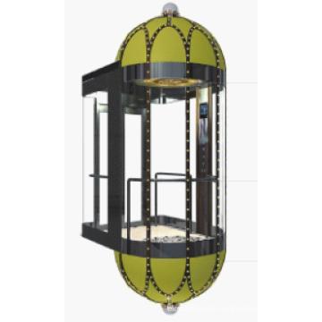 Machine d'ascenseur panoramique sans pièce