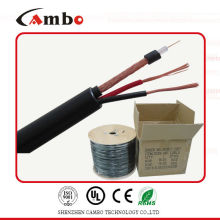 RG59 siamese cable CCTV cable 2 power line 18awg